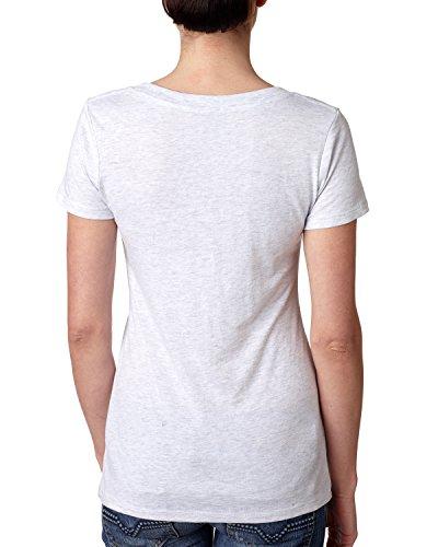 Blanco Triblend En Next Cuello Camiseta Level Heather V Con UCqEX8nxw