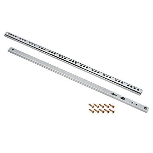 uxcell 16-Inch Drawer Slides, Ball Bearing Two Way Slide Track Rail 16mm Wide, 1 Pair