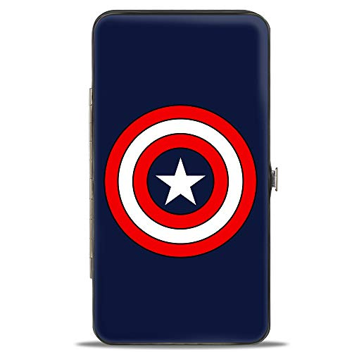Buckle-Down Women's Hinge Wallet-Captain America, Multicolor, 7