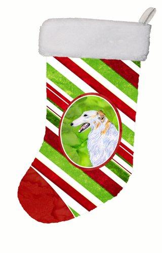 Carolines Treasures SS4544-CS Borzoi Winter Snowflakes Christmas Stocking 11 x 18 Multicolor