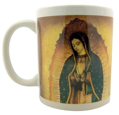 OL Our Lady Guadalupe Virgin Mary Icon with Prayer 10oz Ceramic Hot Cold Drink Cup Mug
