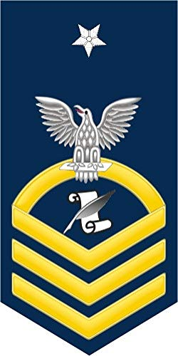 US Navy Senior Chief Gold E-8 Journalist JO Military Veteran Served Window Bumper Sticker Vinyl Decal 3.8