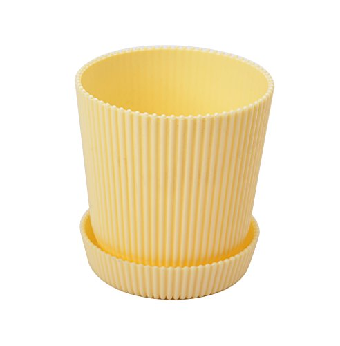 4.5 Inch Round Flower Plant Pots Planter Flower Plant Container with Saucer Pallet,Yellow,320 Counts by Zhanwang