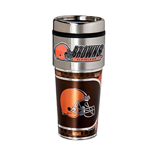 Great American Products Cleveland Browns 16oz. Stainless Steel Travel Tumbler/Mug Cleveland Browns Travel Mug