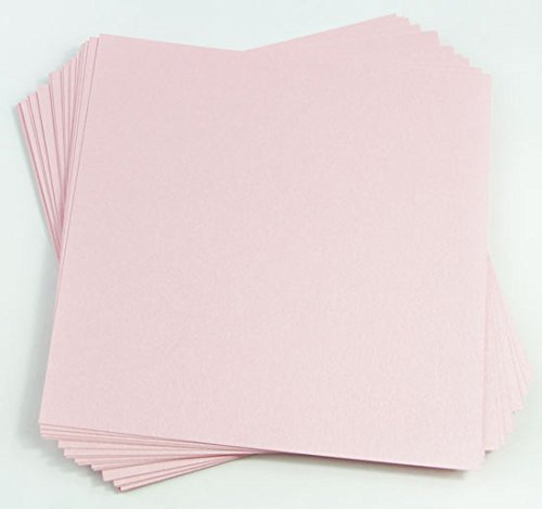 12 Pastel Roses (Rose Quartz Metallic Cardstock, 12 x 12 Stardream 105lb Cover, 25 pack)