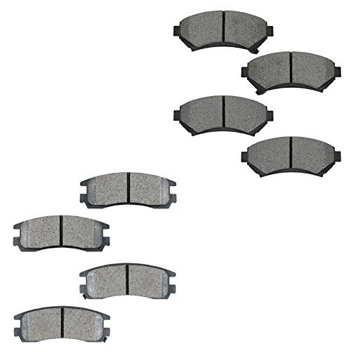 Metallic Brake Pad Front & Rear Kit for Buick Chevy Oldsmobile Pontiac - Oldsmobile Intrigue Rear Brake