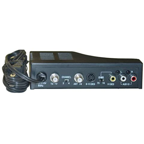 RF Modulator with S-Video, Composite Audio/Video RCA / S-Video to F-pin Coaxial, Channel 3/4 - Rf Modulators Single Channel