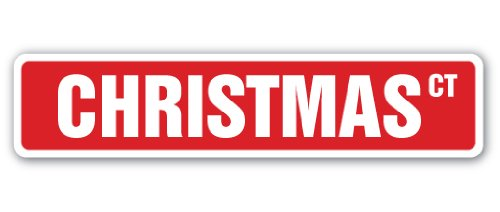 Christmas Street Sign Santa Claus reeindeer Sleigh Jesus | Indoor/Outdoor |  30