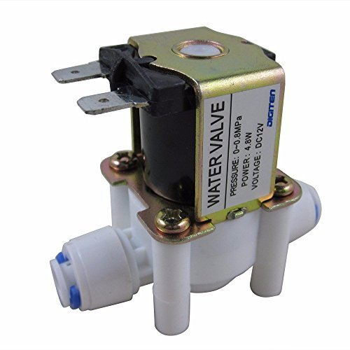 Inlet Feed Water Solenoid Valve Quick Connect N/C normally Closed no Water Pressure (Feed Valve)