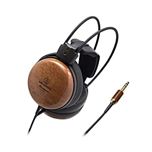 Audio-Technica ATH-W1000Z Audiophile Closed-Back Dynamic Wooden High-Resolution Audio Headphones Brown