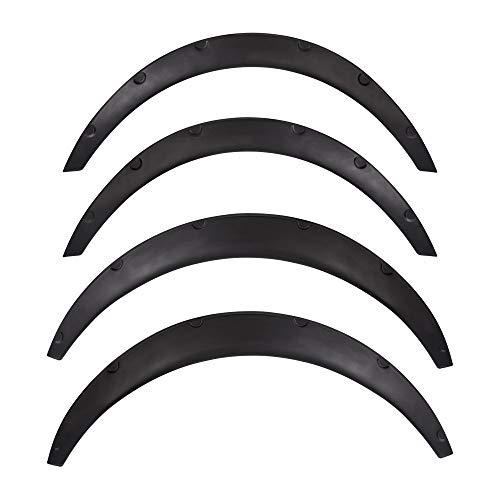 4Pcs Universal Fender Flares Flexible Durable Polyurethane Auto Car Wheel Fender Flares Protector Body Kit Black