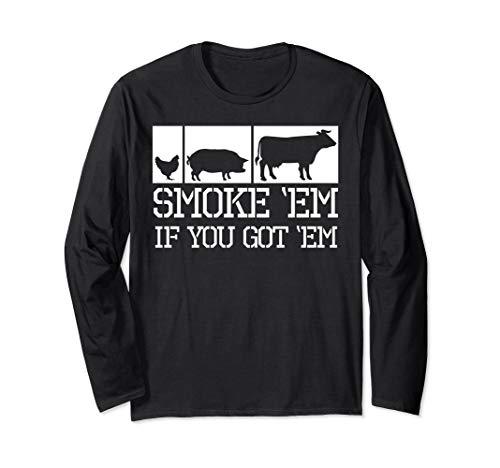 Funny BBQ Grilling Pitmaster Longleeves T Shirt Meat (Best Bbq Ga Grillss)