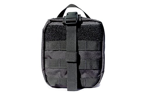WOLF TACTICAL First Aid Medical Pouch - MOLLE Rip-Away EMT Pouch - Premium Military Style Utility Bag with YKK Zippers - IFAK Emergency Paramedic Outdoor Survival (Bag Only)