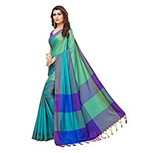 GoSriKi Art Silk Saree with Blouse Piece
