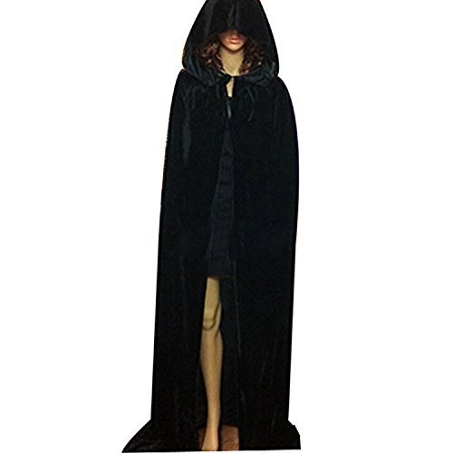 Adults Long Halloween Fancy Dress Hooded Robe Cloak Wizard Cosplay Costumes Cape (2)