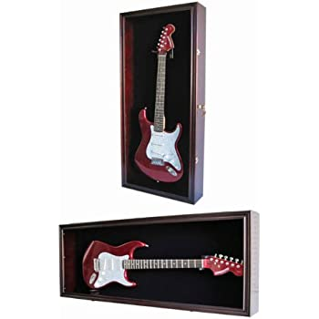 e378e4e95db Guitar Display Case Cabinet Wall Hanger for Fender or Electric Guitars w Uv  Protection-
