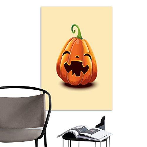 UHOO Arts PaintingRealistic Vector Halloween Pumpkin Happy face