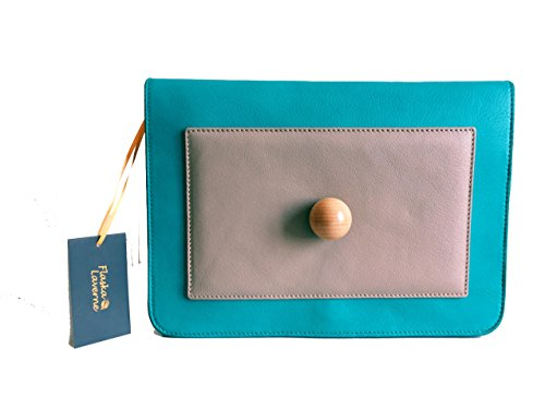 Flaska Laverne - Cartera de mano Mujer Chic Drawer Turquoise Grey