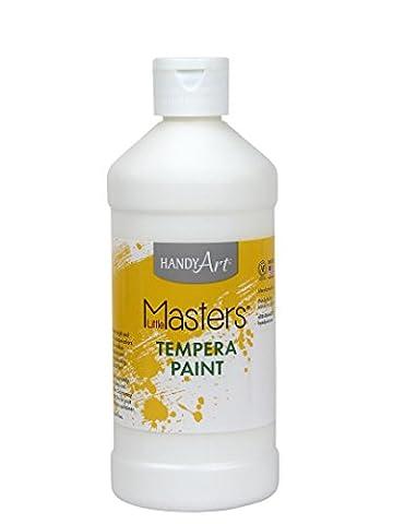 Handy Art Little Masters Tempera Paint 16 ounce, White (White Paint Tempera)
