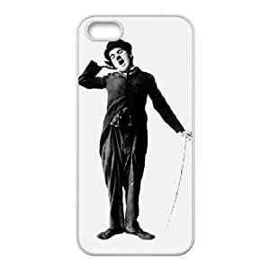 Charles Chaplin iPhone5s Cell Phone Case White TPU Phone Case SV_038850