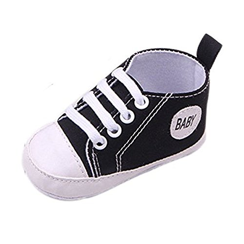 - Gorgeous Baby Sneakers,Dealzip Inc Basic Black Newborn Baby Boy Girl Soft Crib Canvas Sneaker Shoes 9-12 Months