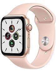 AppleWatchSE (GPS+Cellular) • 44mm aluminiumboett guld • sportband sandrosa – standard
