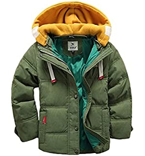 f01fa3ee4 Amazon.com  BUYKUD Kids  Boys Winter Jacket Hooded Down Coat Warm ...