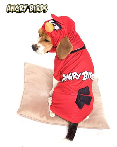 Paper Magic Group PM6748344-S Red Angry Bird Pet Costume (Rovio Angry Birds Red Bird Pet Costumes)