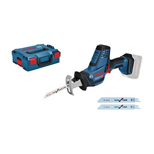 chollos oferta descuentos barato Bosch Professional GSA 18 V LI C Sierra sable 0 3050 cpm profundidad de corte 200 mm sin batería y cargador en L BOXX