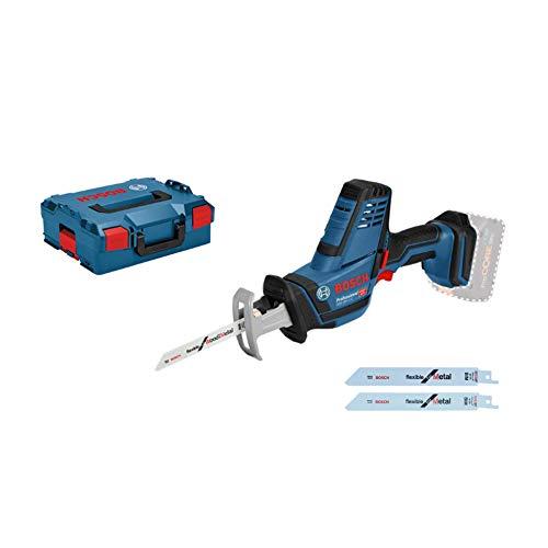 Bosch Professional GSA 18 V-LI C Sierra sable, 0 3050 cpm, profundidad de corte 200 mm, sin batería y cargador, en L-BOXX