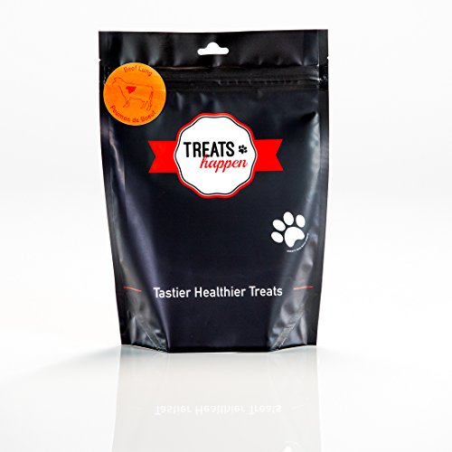 Treats Happen Dehydrated Beef Lung 4oz (90 portions) - Natural Grain Free Single Ingredient Dog Treat for Training (1-Bag) (The Biggest Dog In The Whole Wide World)