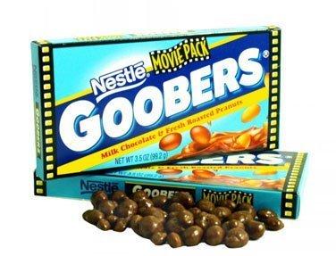 - Goobers, Movie size, 3.5 oz box, 18 count