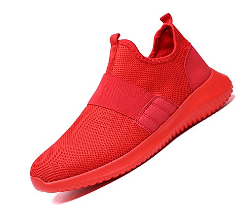 YZHYXS Jogging Shoes for Men Slip on Lightweight mesh Breathable Comfortable Fashion Sport Running Shoes Youth Big Boys Walking Shoes Size 8 (426-Red-41) For Sale