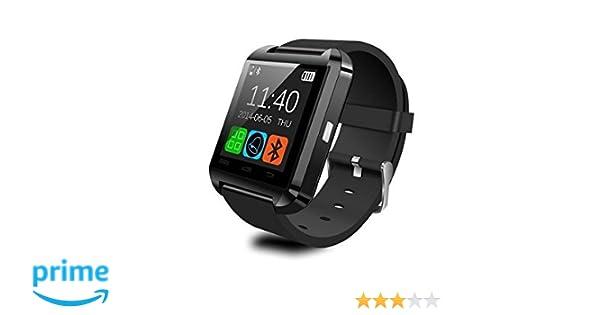WildWear® U8 Smart Watch / Reloj inteligente U8 / Reloj Bluetooth / Reloj Android / Reloj para la salud con pantalla táctil y cámara, Android y IOS de ...