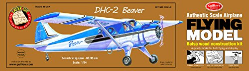 Balsa Wood Airplane Kits (Guillow's Beaver DHC-2 Laser Cut Model)