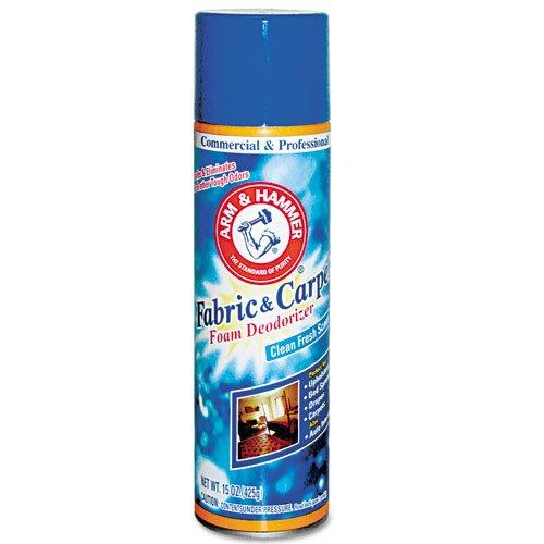 Arm & Hammer Fabric and Carpet Foam Deodorizer, Aerosol, 6/Carton by Arm & Hammer