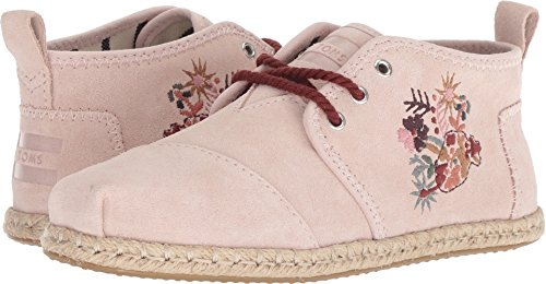 TOMS Women's Bota Blush Floral Embroidery Suede Rope 9.5 B US - Suede Blush