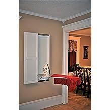 Slide-Away Wall Mounted Ironing Board with Double Panel Door