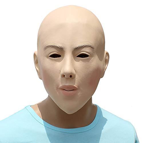 Electz DIY Masquerade Props Bald Beauty Mask Plays Face Mask Halloween Horror Silicone