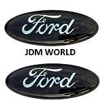 ford edge logo - 2 pcs SET 2005-2014 Ford F150 Black Oval 9