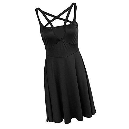 Rodilla Regalo Mujer Elegante Hermosa negro Figura Baoblaze Noche Jovencita Vestido Fiesta Hasta Ropa pfApPq0Wn
