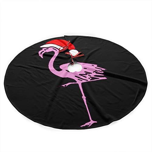 XAMX45Stree Flamingos Merry Christmas Tree Skirt Christmas Festive Holiday Xmas Tree Decorations
