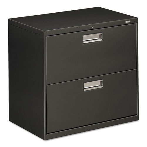 HON 672LS 600 Series 30-Inch by 19-1/4-Inch 2-Drawer Lateral File, Charcoal by HON