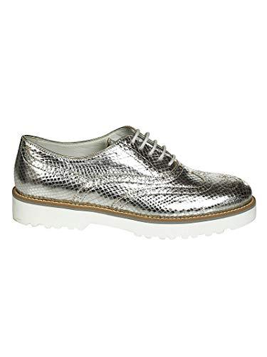 Cuir Femme À HXW2590R320BV6B200 Chaussures Hogan Lacets Argent t7nWOFxnq