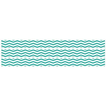 Amazoncom Chevron Border Wall Decals Stickers In Aqua Blue Baby