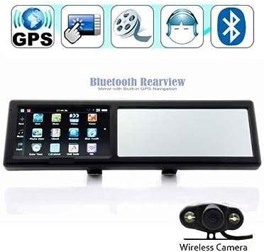Gps43mc Rétroviseur Bluetooth Gps Avec Caméra De Recul Sans Fil Et Cartes D Europe 10 Cm Amazon Fr High Tech