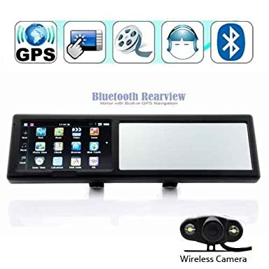 43 Inch Bluetooth Rearview Mirror Gps Navigator With Wireless
