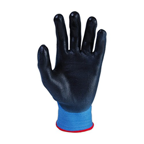 Magid Glove & Safety CT500-BL-11 Magid ChromaTek CT500 Multi-Colored HPPE Blend PU Palm Coated Gloves - Cut Level 2, Small, Blue, 11 (Pack of 12) by Magid Glove & Safety (Image #1)