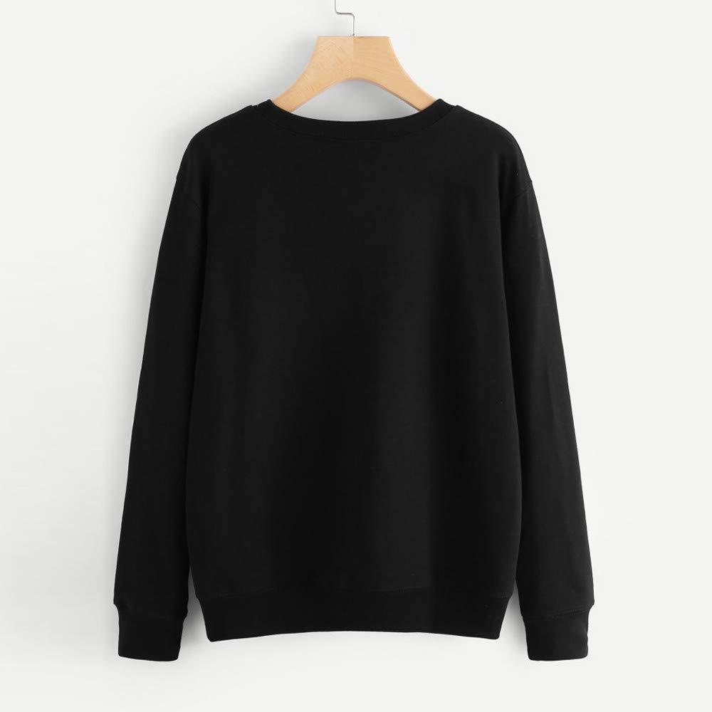 Homebaby Felpe Tumblr Donna Sportiva Crop Top Autunno,Ragazza Striscia Sweatshirt Pullover Elegante Manica Lunga Maglietta Cotone Camicette T-Shirt Yoga Fitness Calcio Maglione