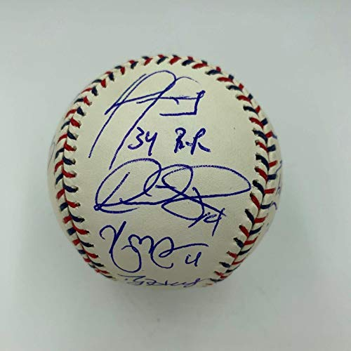 (Roy Halladay David Ortiz Alex Rodriguez 2010 All Star Game Signed Baseball - Autographed Baseballs)